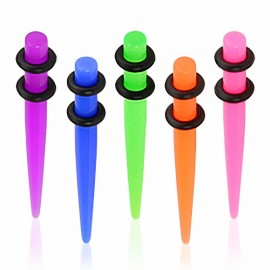 Piercing Ecarteur Acrylique UV Néon