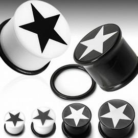 Piercing Plug Acrylique Etoile