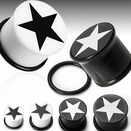 Piercing Plug Acrylique UV Etoile