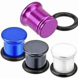 Piercing Plug Acrylique Effet Perlé Métallique