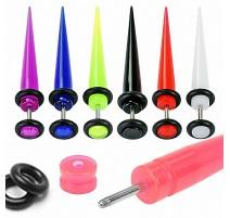 Faux Piercing Ecarteur d'oreille Acrylique UV