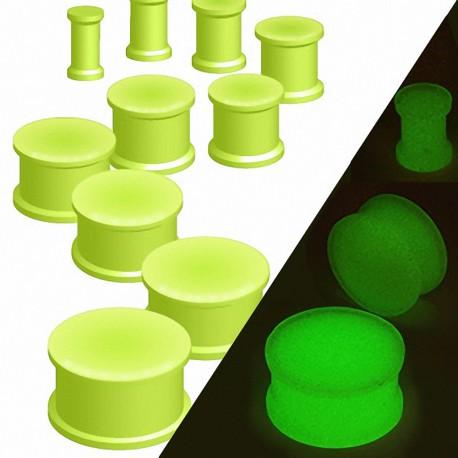 Piercing Plug Oreille Silicone Flexible Glow in the dark