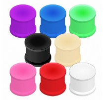Piercing Plug en Silicone Flexible Couleurs Vives
