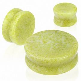 Piercing Plug Pierre semi précieuse Jade Citron