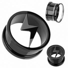Piercing Tunnel Plug Titane Blackline Eclair