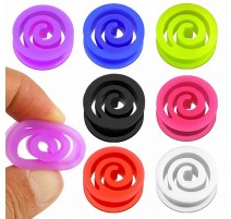 Piercing Plug Silicone Flexible Spirale