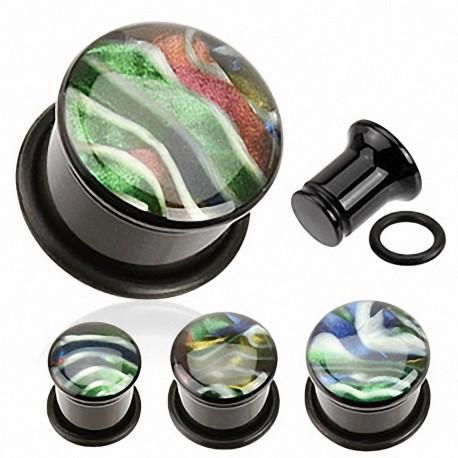 Piercing Plug Acrylique Nacre Abalone