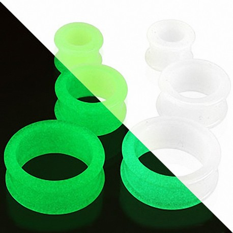 Piercing Tunnel Silicone Flexible Glow in the Dark
