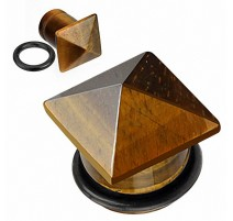 Piercing Plug Pierre semi précieuse Oeil de Tigre Pyramide