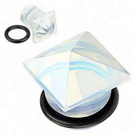 Piercing Plug Pierre semi précieuse Opale Pyramide