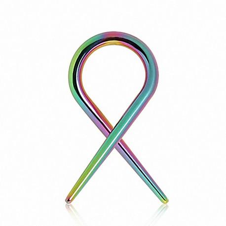 Piercing écarteur spirale titane multicolore