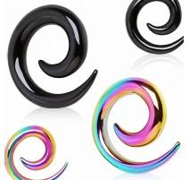 Piercing écarteur spirale titane