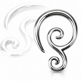 Piercing écarteur double spirale