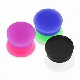 Piercing plug silicone bicolore
