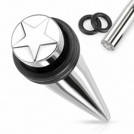 Piercing écarteur étoile