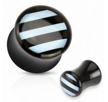 Piercing plug acrylique strié