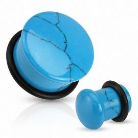 Piercing plug pierre turquoise dôme