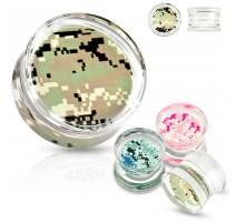 Piercing plug acrylique camouflage pixels