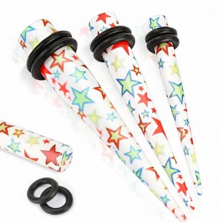 Piercing écarteur acrylique étoiles