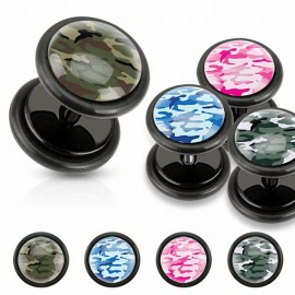 Faux Piercing plug camouflage