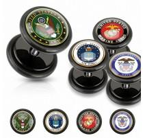 Faux Piercing plug militaire