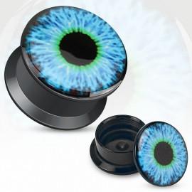 Piercing plug acrylique oeil bleu