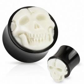 Piercing plug crâne corne de buffle