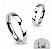 Bague Traditionnelle Mariage Acier inoxydable