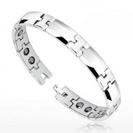 Bracelet Bio-Magnetic Tungstène Facettes arrondies