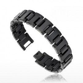 Bracelet Bio-Magnetic Tungstène Large Noir IP