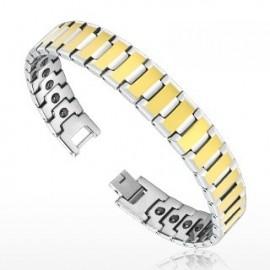 Bracelet Bio-Magnetic Tungstène Duo Doré