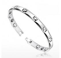 Bracelet Bio-Magnetic Tungstène Facettes Courbes