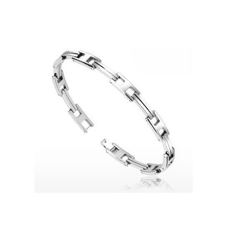 Bracelet Bio-Magnetic Tungstène Liens Doubles Barres