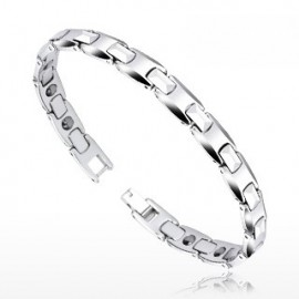 Bracelet Bio-Magnetic Tungstène Facettes Rondes
