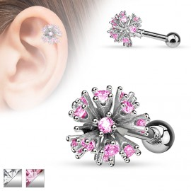 Piercing cartilage multi gemmes