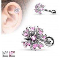 Piercing cartilage multi gemmes
