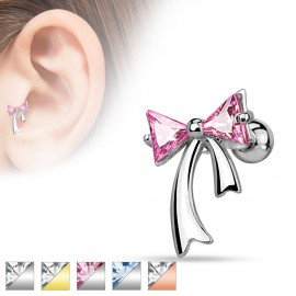 Piercing tragus cartilage noeud