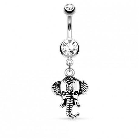 Piercing nombril pendentif éléphant