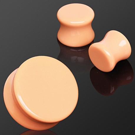 Piercing plug pierre couleur pêche