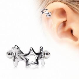 Piercing hélix manchette étoiles