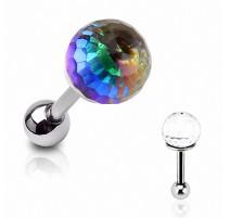 Piercing Oreille Cartilage Boule de Cristal