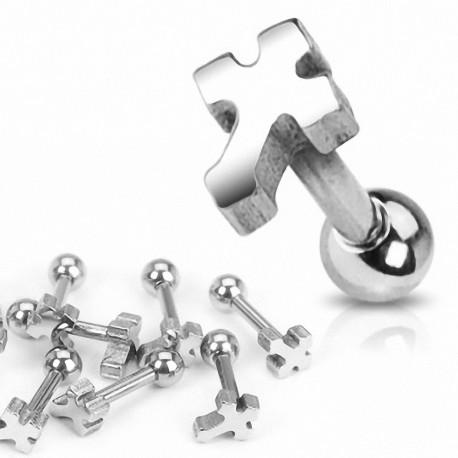 Piercing oreille Croix Celtique acier chirurgical