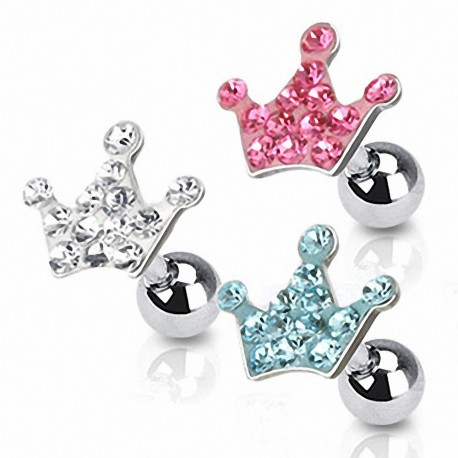 Piercing Oreille Cartilage Tragus Couronne Strass