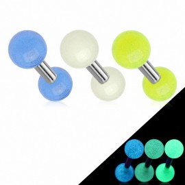 Piercing Oreille Cartilage Tragus Billes Glow in the Dark