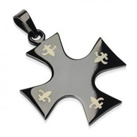 Pendentif Tribal Croix Celtique Noire acier inoxydable