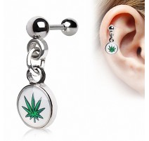 Piercing Helix Cartilage Cannabis