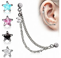 Double Piercing Cartilage Oreille Etoile
