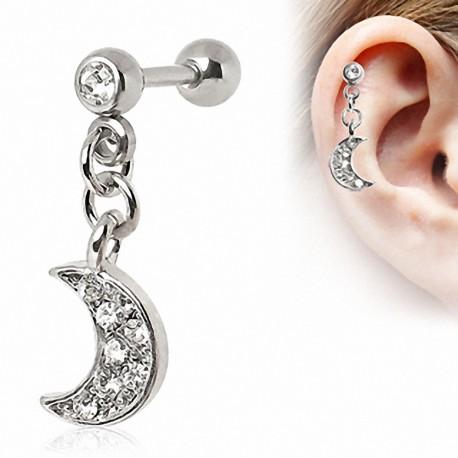 Piercing cartilage lune