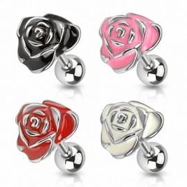 Piercing hélix tragus rose