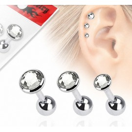 Lot de 3 piercing hélix strass